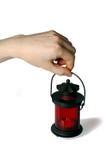 Lâmpada vermelha Imagem de Stock Royalty Free