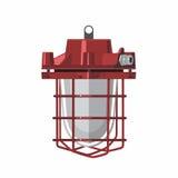 Lâmpada vermelha industrial Fotos de Stock Royalty Free