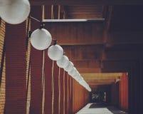 Lâmpadas brancas redondas do teto Fotografia de Stock