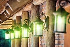 Lâmpadas clássicas do ferro Imagem de Stock