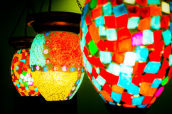 Lâmpadas coloridas Fotos de Stock