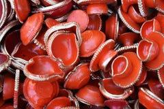 Lâmpadas da argila de Diwali Imagens de Stock Royalty Free