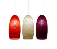 3 lâmpadas da cor Foto de Stock