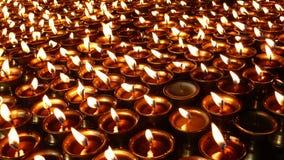 Lâmpadas da manteiga de iaques em Tibet Foto de Stock Royalty Free