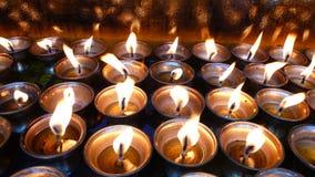 Lâmpadas da manteiga de iaques em Tibet Imagem de Stock
