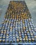 Lâmpadas da manteiga, Nepal imagens de stock
