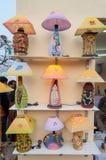 Lâmpadas da noite, trabalho de arte, artesanatos indianos justos em Kolkata Foto de Stock