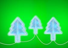 Lâmpadas das árvores da iluminação do Natal Foto de Stock Royalty Free