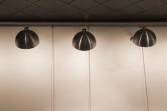 Lâmpadas de aço inoxidável modernas fotos de stock royalty free