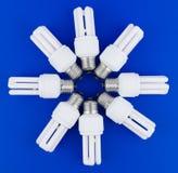 Lâmpadas de Fluerescent Imagens de Stock