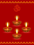 Lâmpadas de incandescência de Diwali Fotos de Stock