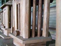 Lâmpadas de madeira Imagens de Stock Royalty Free