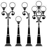 Lâmpadas de rua coleção, lanterna Fotografia de Stock Royalty Free