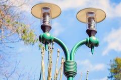 Lâmpadas de rua do vintage em um parque Fotografia de Stock Royalty Free
