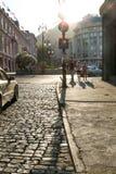 Lâmpadas de rua elétricas retros velhas feitas do estilo do metal Fotos de Stock
