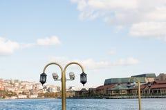 Lâmpadas de rua elétricas retros velhas feitas do estilo do metal Imagens de Stock Royalty Free