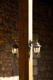 Lâmpadas de rua elétricas retros velhas feitas do estilo do metal Imagem de Stock Royalty Free