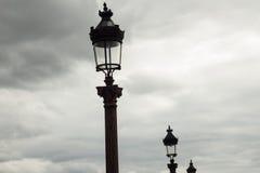 Lâmpadas de rua em Paris Fotos de Stock