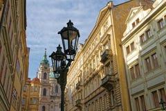 Lâmpadas de rua em Praga Fotografia de Stock