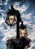 Lâmpadas de rua em York em Inglaterra o Reino Unido Fotos de Stock