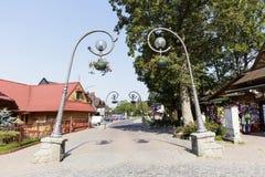 Lâmpadas de rua em Zakopane Fotografia de Stock Royalty Free