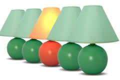 Lâmpadas de tabela Fotografia de Stock