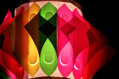 Lâmpadas decorativas coloridas durante o festival Fotos de Stock Royalty Free