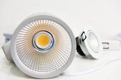 Lâmpadas do diodo emissor de luz para a iluminação encaixada fotos de stock royalty free