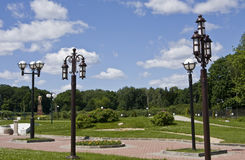 Lâmpadas do jardim Fotos de Stock
