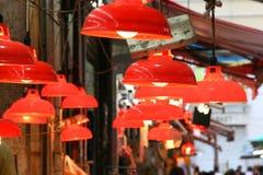 Lâmpadas do mercado Foto de Stock Royalty Free