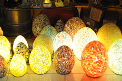Lâmpadas do mosaico Fotografia de Stock