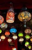 Lâmpadas do otomano do mosaico do bazar grande imagens de stock royalty free