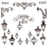 Lâmpadas do vintage ajustadas ilustração stock