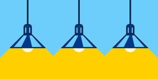 Lâmpadas e luz ilustração do vetor