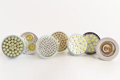 Lâmpadas GU10 do diodo emissor de luz Fotografia de Stock Royalty Free