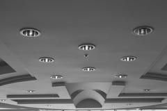 Lâmpadas incorporados do teto Fotografia de Stock Royalty Free