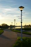 Lâmpadas pelo passeio Fotografia de Stock Royalty Free