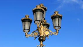 Lâmpadas que vestem a coroa dourada Imagem de Stock Royalty Free