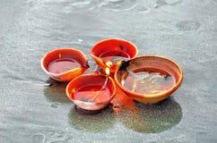 Lâmpadas tradicionais de Diwali imagem de stock