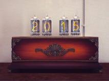 Lâmpadas velhas o número de retro Fotografia de Stock Royalty Free