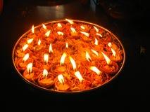 Lâmpadas vermelhas da celebração Fotos de Stock Royalty Free