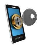 låst telefon Royaltyfria Bilder