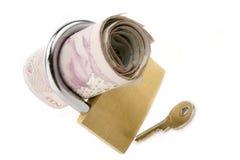 låsta pengar Royaltyfri Bild