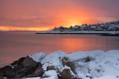 Lødingen Norvège Photo stock
