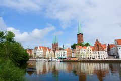 Lübeck harbor Royalty Free Stock Images