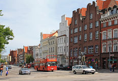 Street in Lübeck Stock Photography