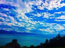 Léman jezioro Szwajcaria Zdjęcia Stock