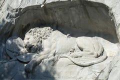Löwendenkmal Lucerne Arkivfoton