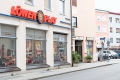 Löwenplay赌博的大厅 库存照片