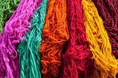 Lãs coloridas decorativas do Berber Imagem de Stock